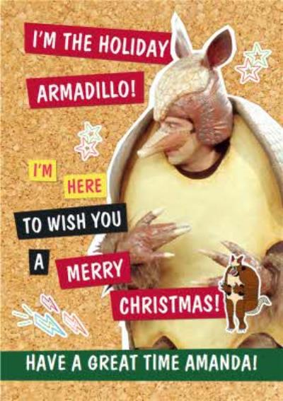 Friends TV The Holiday Armadillo! Merry Christmas