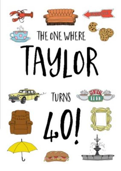 Friends TV The one where....40th Birthday Card