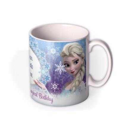 Happy Birthday Disney Frozen Elsa & Anna Photo Upload Mug