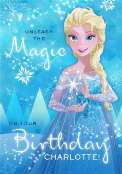 Disney Frozen Unleash The Magic Birthday Card