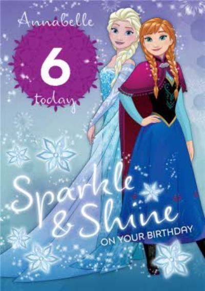 Disney Frozen Sparkle And Shine Birthday Card
