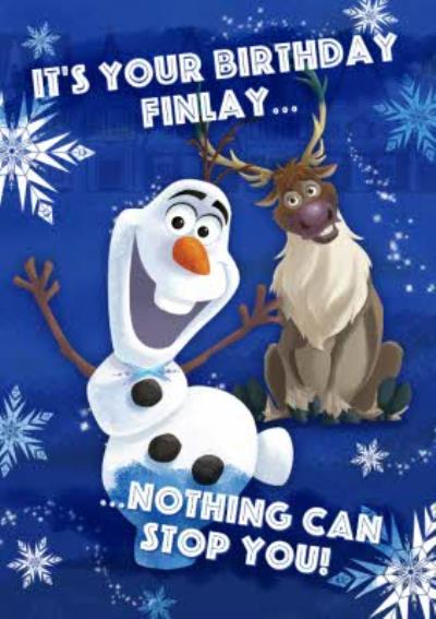 Disney Frozen Nothing Can Stop You Personalised Birthday Card