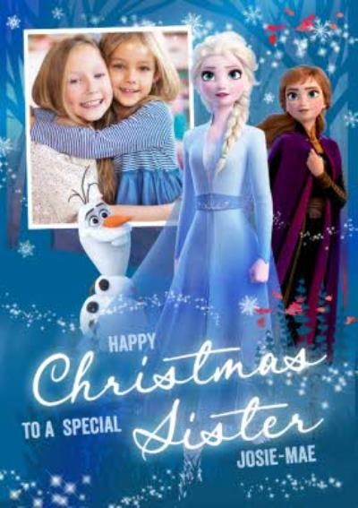 Disney Frozen 2 Special Sister Photo Upload Christmas Card