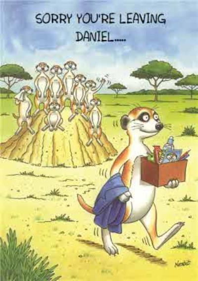 Meerkats Personalised Sorry You're Leaving Card