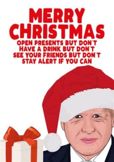 Stay Alert Christmas Card