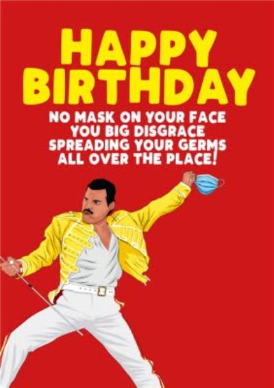 Celebrity Covid19 No Mask On Your Face Happy Birthday Card