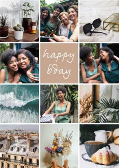 Foto Feed Social Media Influencer Blogger Timeline Photo Collage Photo Upload Birthday Card
