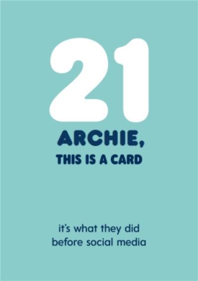 Pigment Fuzzy Duck 21 Birthday Card