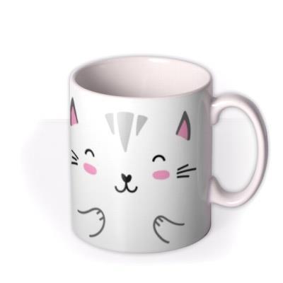 Cute Kitten Graphic Illustration Birthday Mug