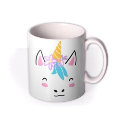 Cute Unicorn Graphic Illustration Birthday Mug