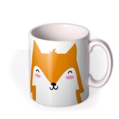 Cute Fox Graphic Illustration Birthday Mug