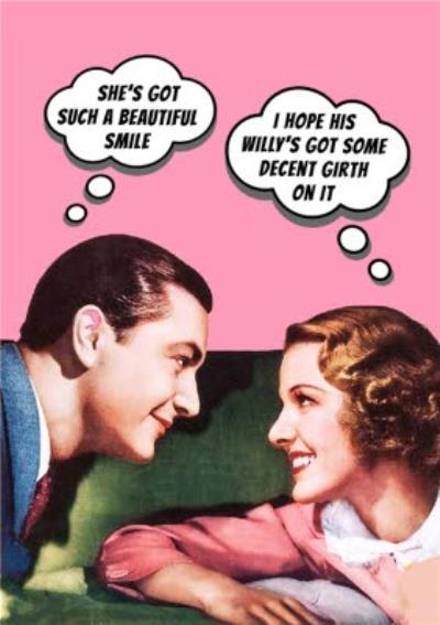 Beautiful Smile Funny Rude Vintage Card