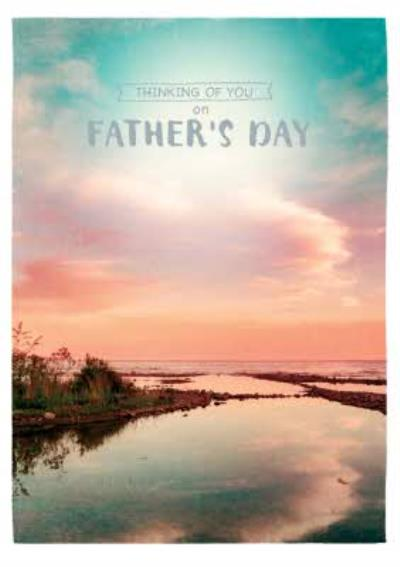 Thinking Of You On Fathers Day Ocean And Sky Card