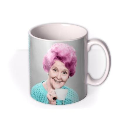 Bright Polka Dot Personalised Text Photo Upload Mug