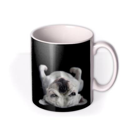 Charcoal Personalised Text Photo Upload Mug
