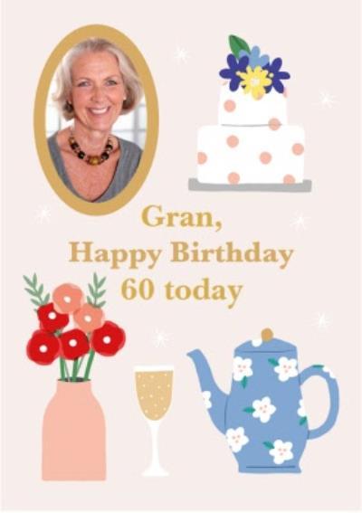 Gran, Happy Birthday 60th Today Card