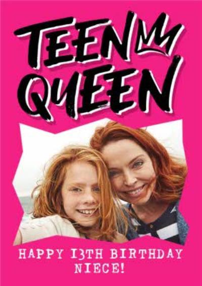 Teen Queen Niece Photo Upload 13th Birthday Card