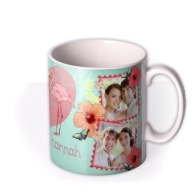 Valentine's Day Flamingo Love Photo Upload Mug