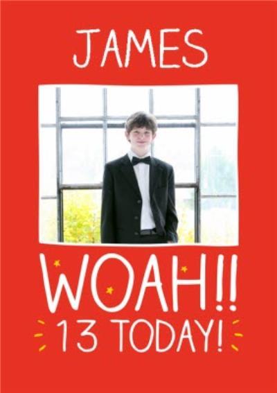 Happy Jackson Personalised 13th Birthday Photo Card