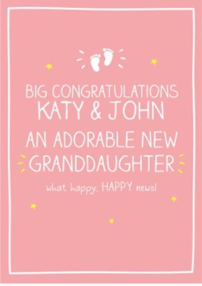 New baby girl congratulations card