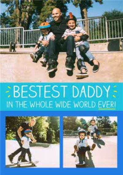 Happy Jackson Bestest Daddy In The Whole Wide World Photo Card