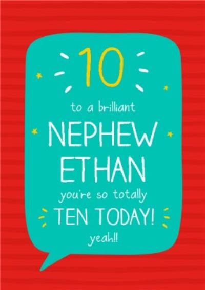 Happy Jackson Nephew 10th Birthday Card