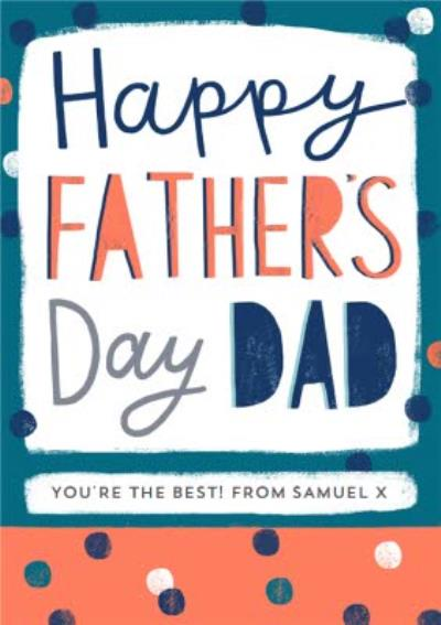 Bright & Bold Typography Happy Father's Day Card