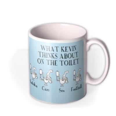 Thinks On The Toilet Personalised Mug