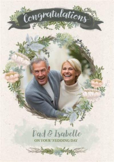 Wedding Card - Photo Upload - Newly Weds - Floral