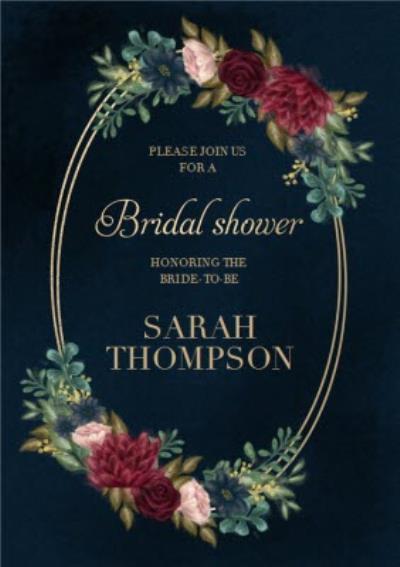 Hope Blossoms Bridal Shower Invite