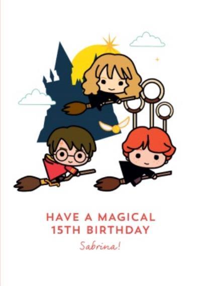 Harry Potter Ron Weasley Hermione Granger 15th Birthday Card