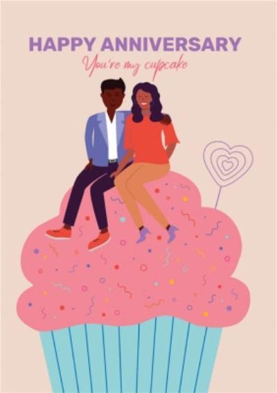 Huetribe Anniversary Cupcake Card