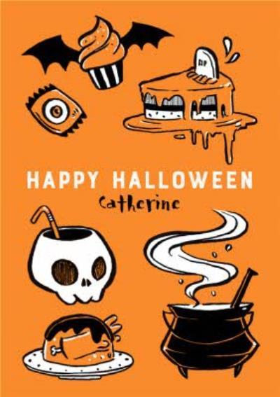 Trick Or Treat Personalised Halloween Card