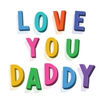 Typographic Lettering Love You Daddy Card