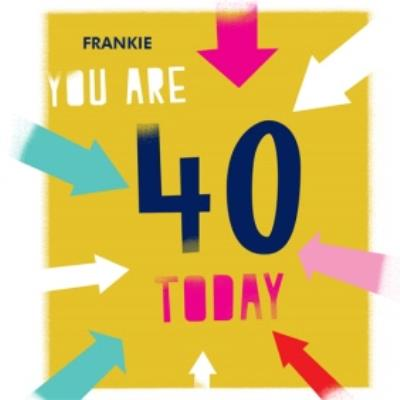 You Are 40 Today Birthday Card