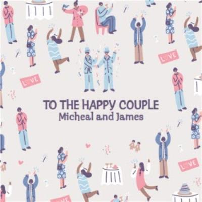 Cute Mr and Mr To The Happy Couple Wedding Card