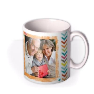 Happy Birthday 60th Multicoloured Photo Upload Mug