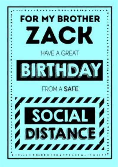 Jam and Toast Brother Safe Social Distancing Birthday Card