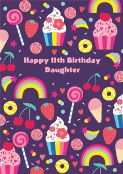 Rainbow Daughter 11th Birthday Card