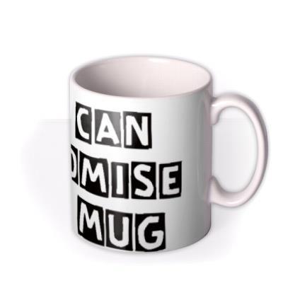 Cutout Text Personalised Mug