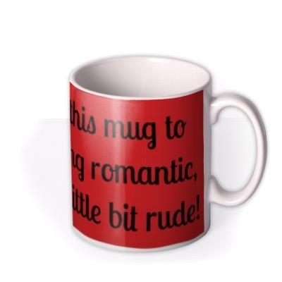 Red Personalised Text Mug