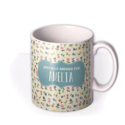 Birthday Mug - floral - specially brewed for