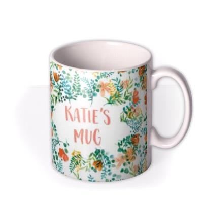 Personalised Floral Birthday Mug