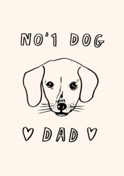 Jolly Awesome No 1 Dog Dad Father's Day Card