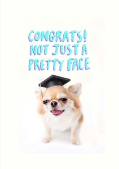 Jolly Awesome Not Just A Pretty Face Graduation Card