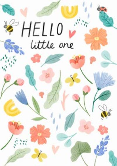 Jess Rose Illustration Cute Flowers Colourful New Baby Card
