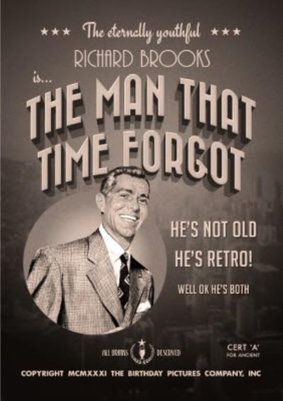 Film Noir The Man That Time Forgot Birthday Card
