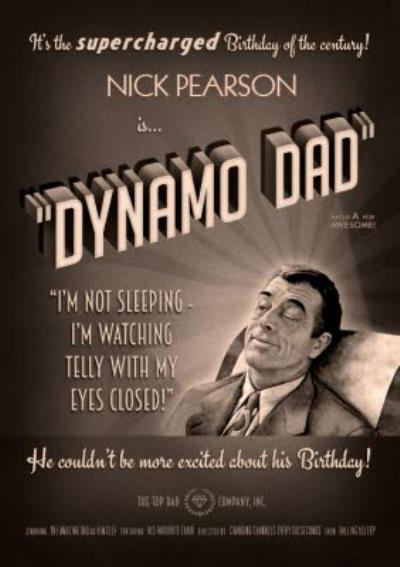 Film Noir Dynamo Dad Card