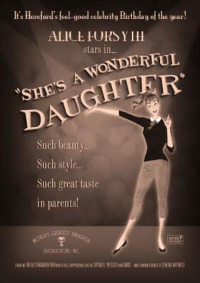 Film Noir Shes A Wonderful Daughter Card