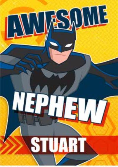 Justice League Nephew Birthday Card